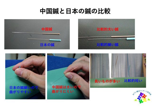 あじさい鍼灸マッサージ治療院 中国鍼と日本の鍼の比較