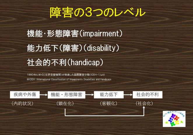 あじさい鍼灸マッサージ治療院 障害の3つのレベル