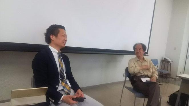 あじさい鍼灸マッサージ治療院 ハトマ。講演 横山先生と松田先生