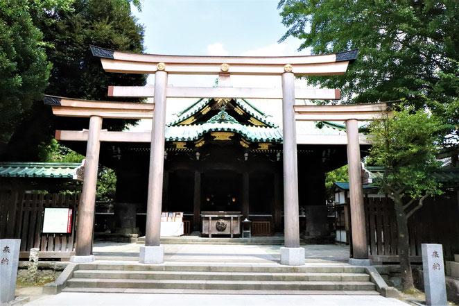 あじさい鍼灸マッサージ治療院 牛嶋神社の三ツ鳥居