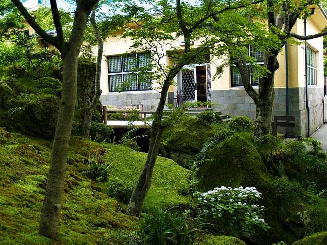 あじさい鍼灸マッサージ治療院 箱根美術館 展示室も庭園と馴染む