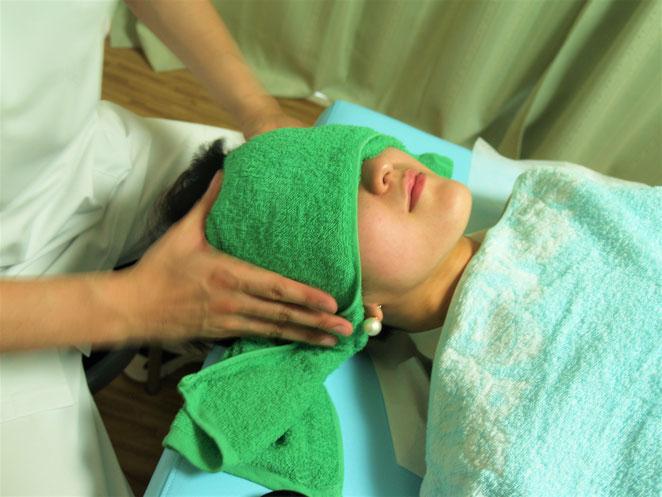 あじさい鍼灸マッサージ治療院 頭部の指圧