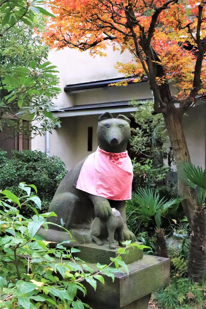 あじさい鍼灸マッサージ治療院 於岩稲荷田宮神社の狐