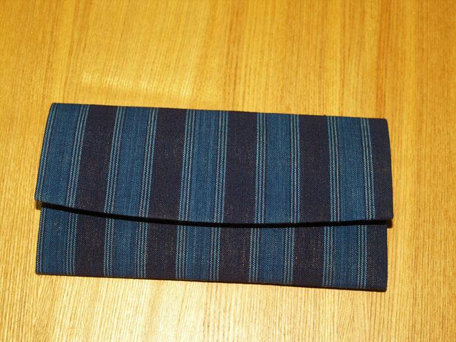 あじさい鍼灸マッサージ治療院 藍染めの長財布