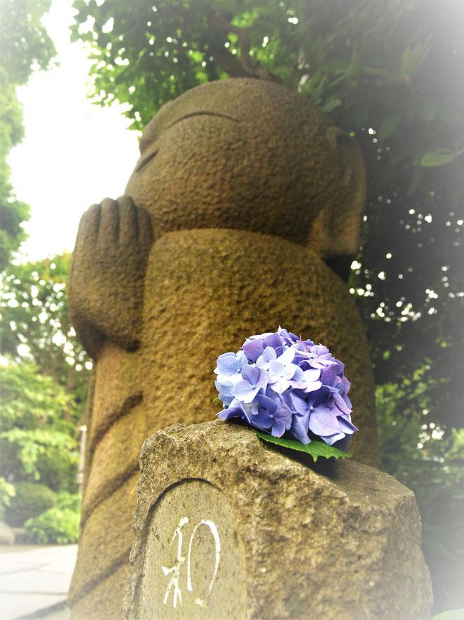 あじさい鍼灸マッサージ治療院 鎌倉長谷寺の和み地蔵