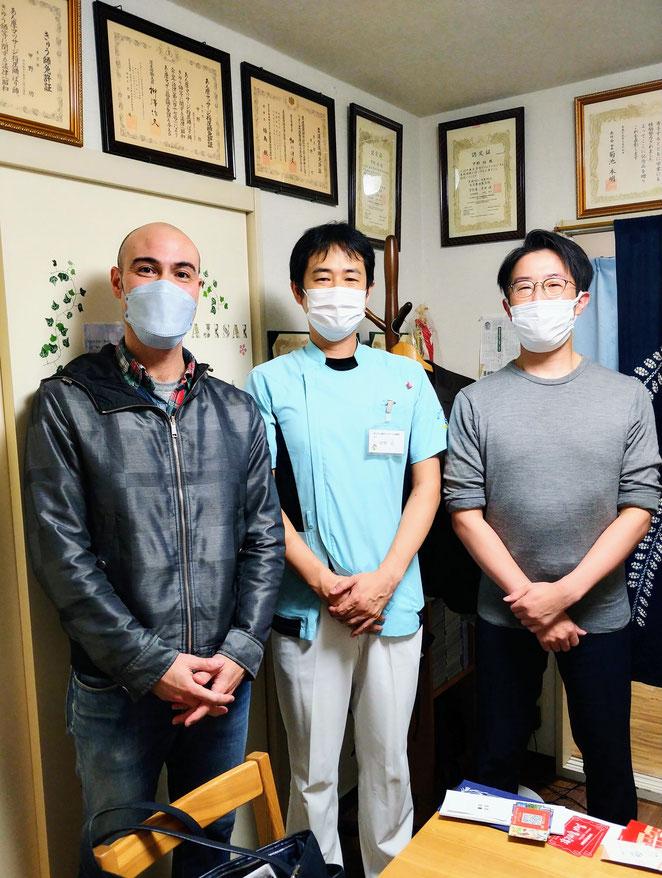 あじさい鍼灸マッサージ治療院 水野先生、鈴木先生と