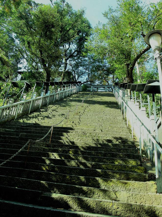 あじさい鍼灸マッサージ治療院 愛宕神社の出世階段