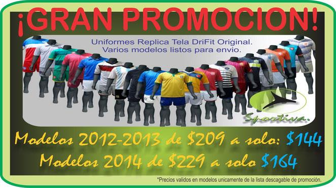 GRAN REBAJAS DE UNIFORMES SOCCER DRIFIT - Comercial Deportiva ... 8ba1efb508e30