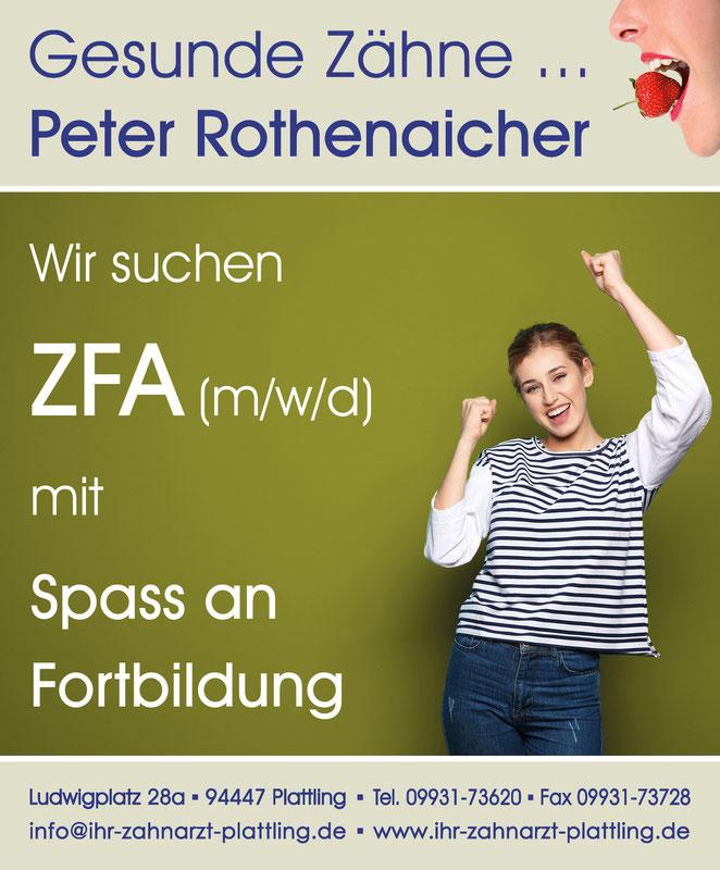 Stellenanzeige ZFA © Petra Rothenaicher und AdobeStock