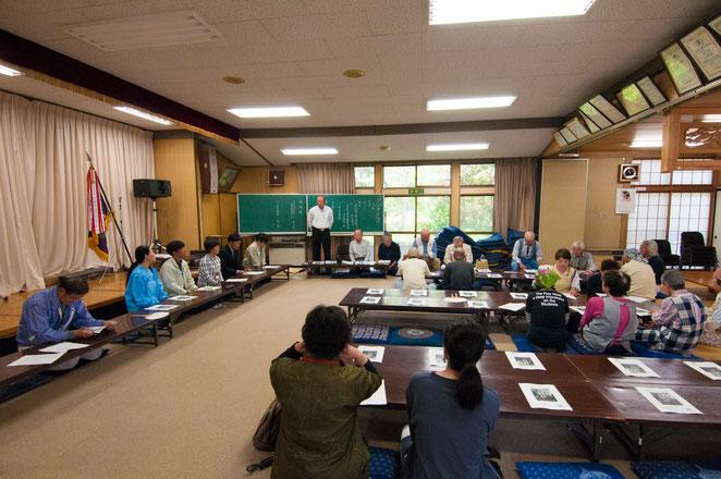 令和元年「山口大根の会」総会。山口自治会館にて。