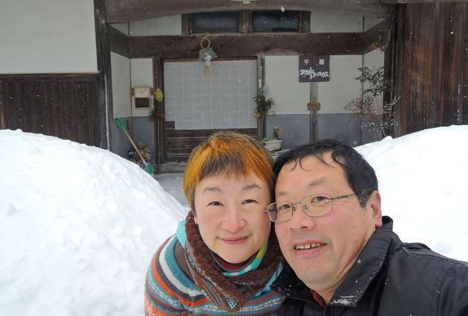 2015年、正月の積雪と門松