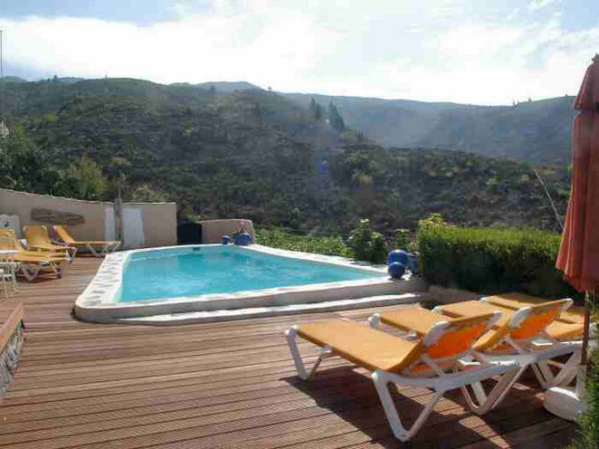 Pool der Finca Palo Alto mit Whirlpool und Bodega in Guia de Isora auf Tenerife
