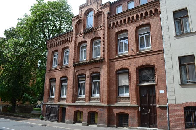 In diesem Haus befinden sich die Ferienwohnungen Hallunke, Händel und Hallenser