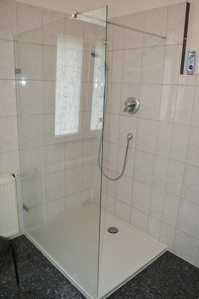neue Dusche Hoesch 120 x 90 cm ultraflach