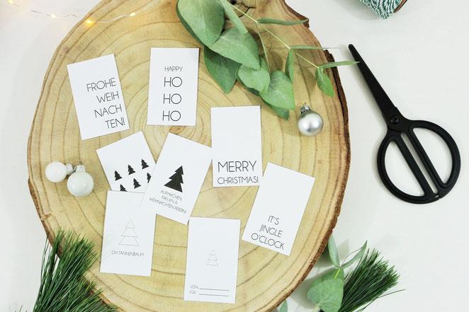 Geschenkanhänger Vorlage Für Advent Weihnachten