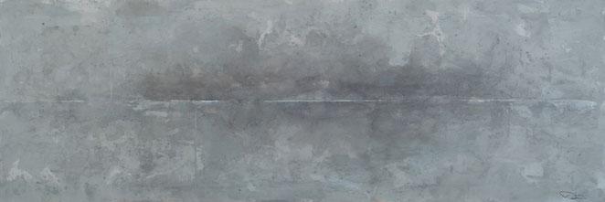 abstraktes Bild · Weiss · Grau · Schwarz · Horizont · Patrick Öxler · Wiede Fabrik · Atelier