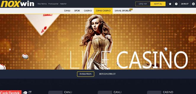 Noxwin Canlı Casino Ekran Görüntüsü