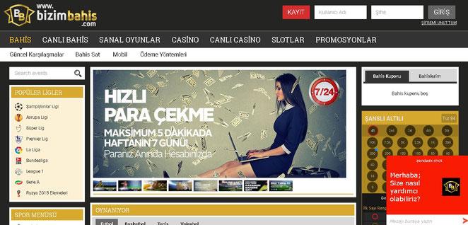Bizimbahis Ana Sayfa Ekran Görüntüsü
