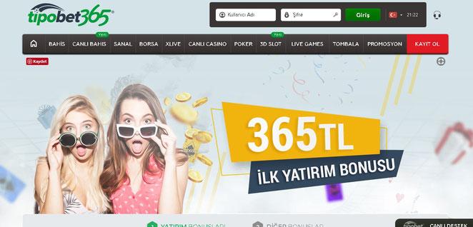 Tipobet365 Bonuslar Ekran Görüntüsü