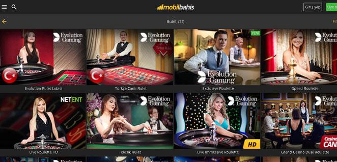 Mobilbahis Canlı Casino Ekran Görüntüsü