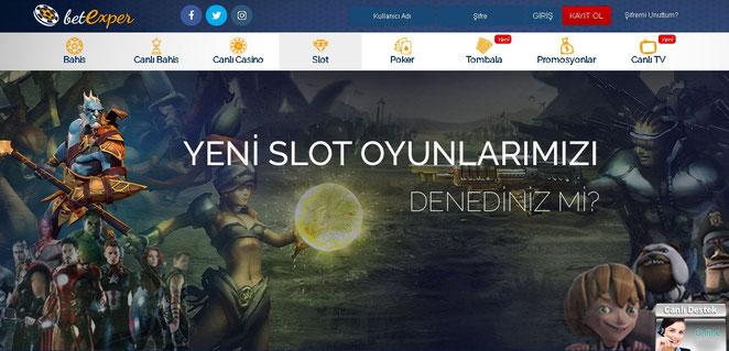 Betexper Casino Ekran Görüntüsü