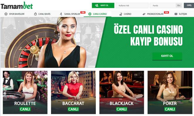 Tamambet Canlı Casino Ekran Görüntüsü