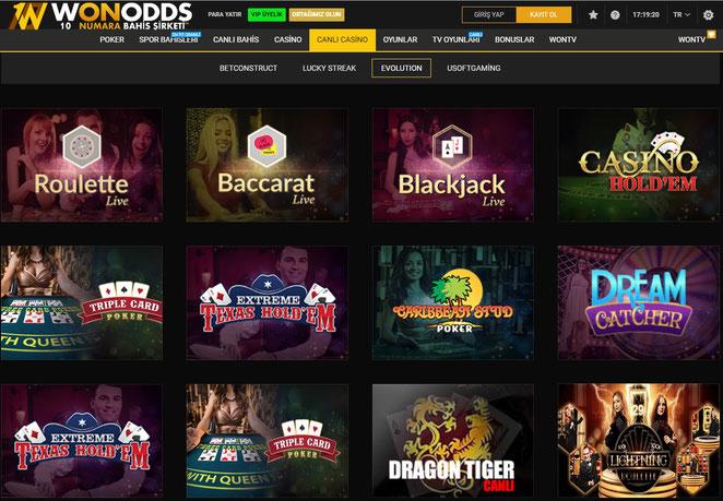 Wonodds Canlı Casino Ekran Görüntüsü