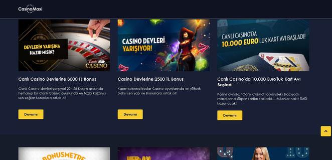 Casinomaxi Bonuslar Ekran Görüntüsü