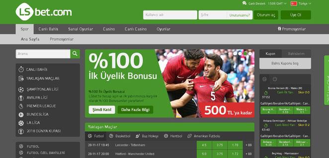 LSbet Ana Sayfa Ekran Görüntüsü