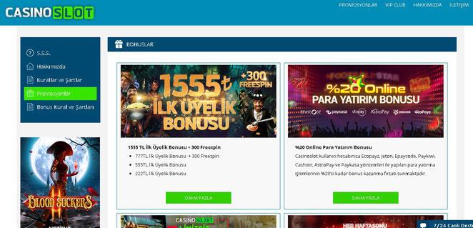 Casino Slot Bonuslar Ekran Görüntüsü