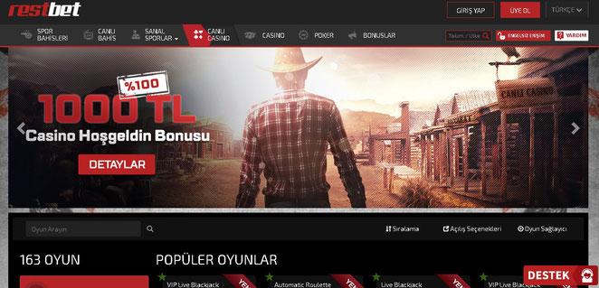 Restbet Canlı Casino Ekran Görüntüsü