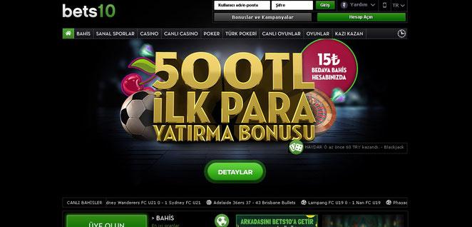 Bets10 Ana Sayfa Ekran Görüntüsü