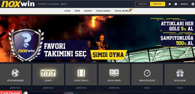 Noxwin Ana Sayfa Ekran Görüntüsü