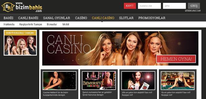 Bizimbahis Canlı Casino Ekran Görüntüsü