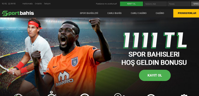 Sportbahis Ana Sayfa Ekran Görüntüsü