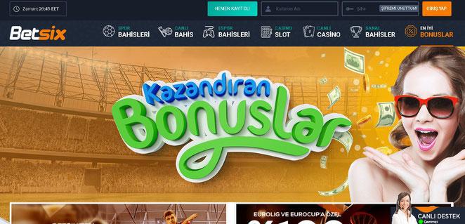 Betsix Bonuslar Ekran Görüntüsü