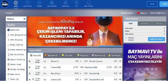 Baymavi Ana Sayfa Ekran Görüntüsü