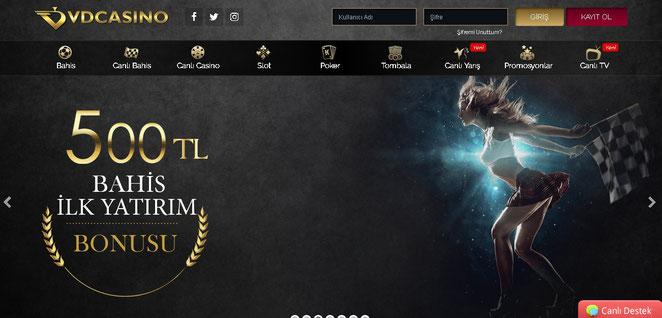 Vdcasino Ana Sayfa Ekran Görüntüsü