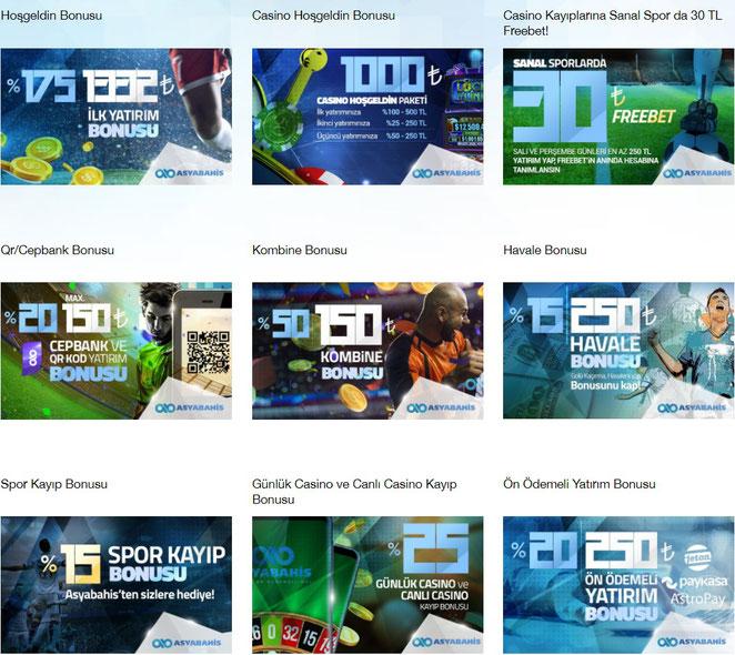 Asyabahis Bonuslar Ekran Görüntüsü