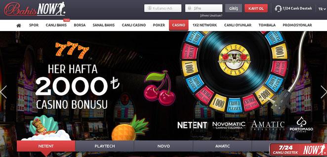 Bahisnow Casino Ekran Görüntüsü