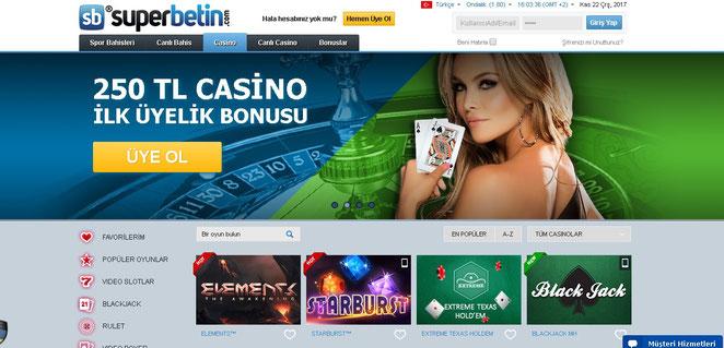Süperbetin Casino Ekran Görüntüsü