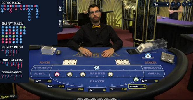 Lucky Streak Canlı Casino Bakara