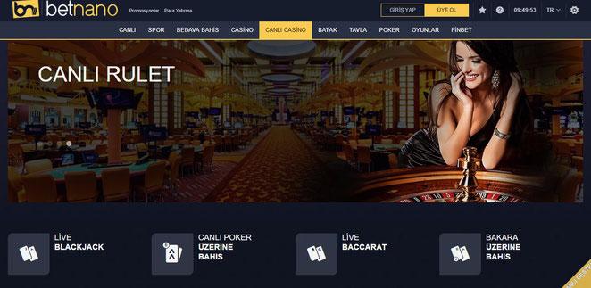 Betnano canlı casino