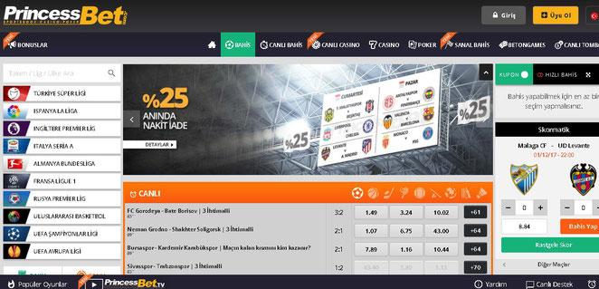 Princessbet Ana Sayfa Ekran Görüntüsü