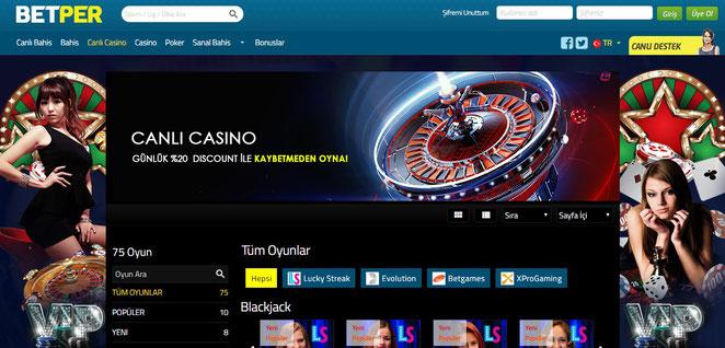 Betper canlı casino
