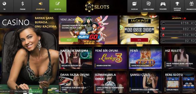 1xSlot Ana Sayfa Ekran Görüntüsü