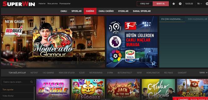 Süpertotobet Casino Ekran Görüntüsü