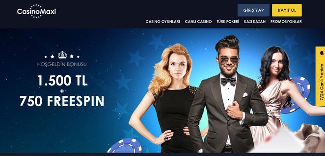 Casinomaxi Ana Sayfa Ekran Görüntüsü