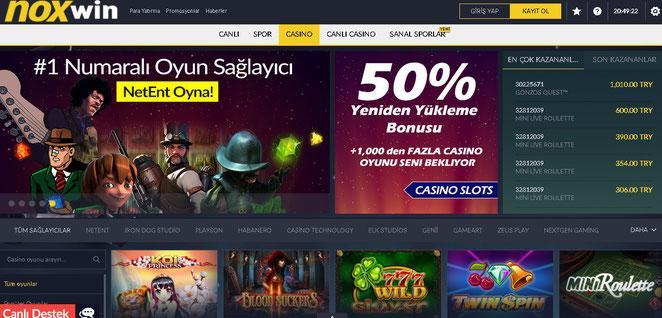 Noxwin Casino Ekran Görüntüsü