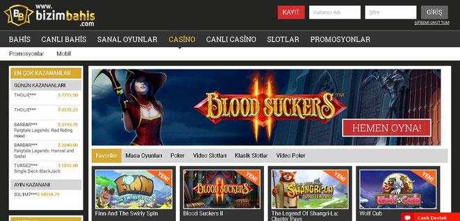 Bizimbahis Casino Ekran Görüntüsü